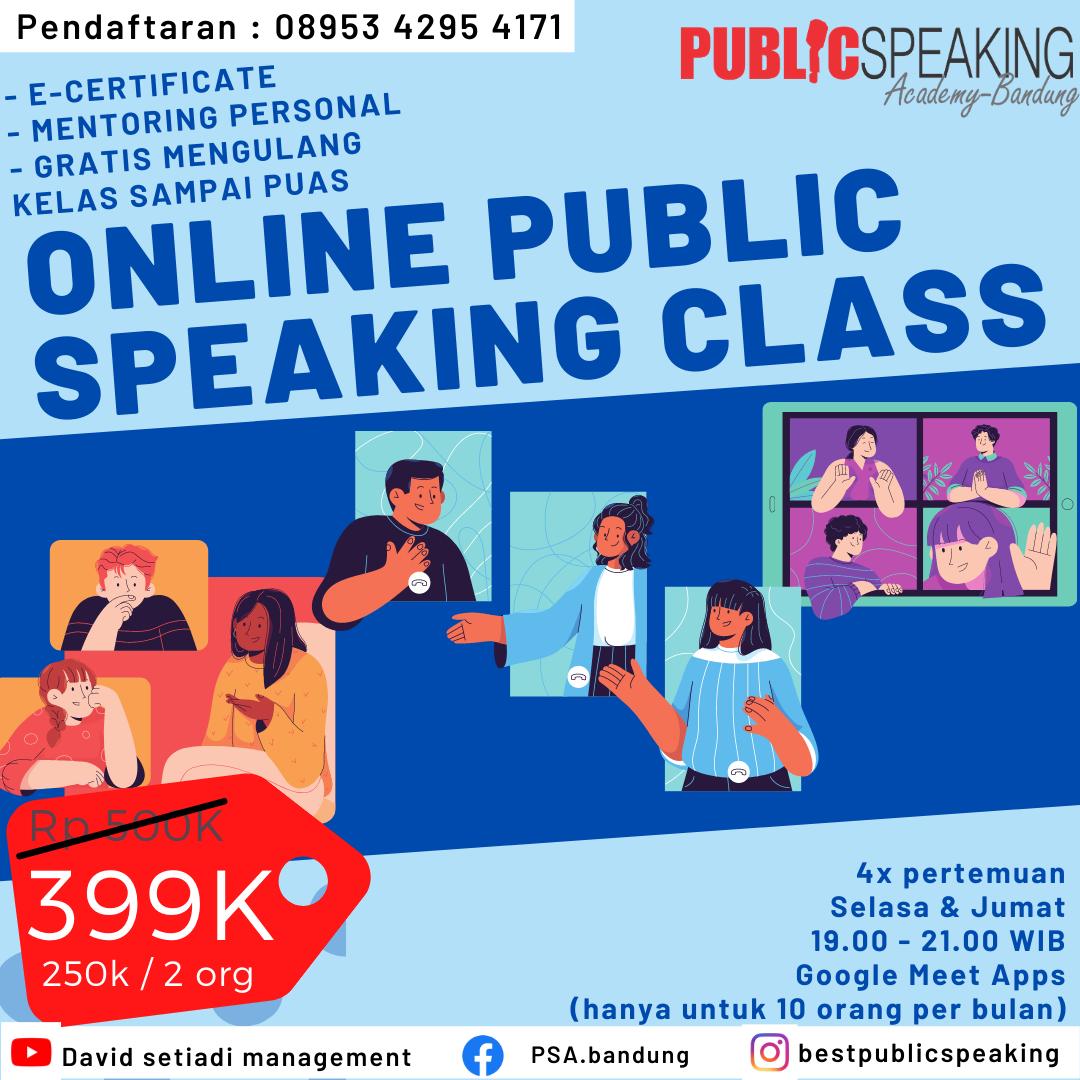 pelatihan public speaking online